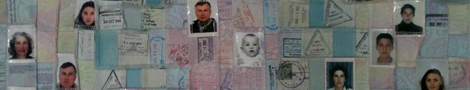 Becky Knight - quilt - passports - detail